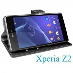 Torbica Book Case za Sony Xperia Z2 Preklopna Črna barva