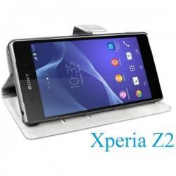 Torbica Book Case za Sony Xperia Z2 Preklopna Bela barva
