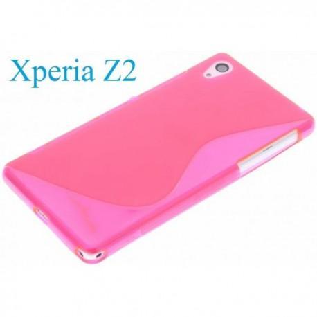 Silikon etui za Sony Xperia Z2 +Folija ekrana , Pink barva