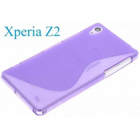 Silikon etui za Sony Xperia Z2 +Folija ekrana , Vijola barva