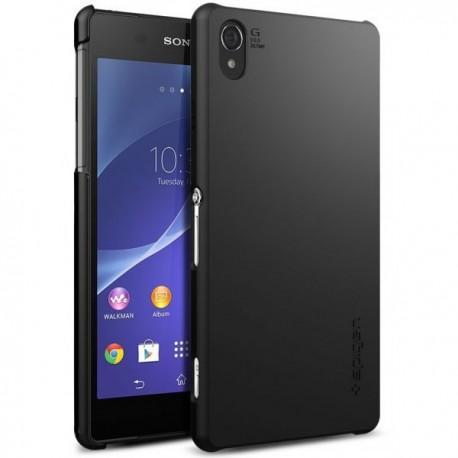 Etui Spigen Sony Xperia Z2 Ultra Fit zadnji pokrovček Smooth Black+Folija