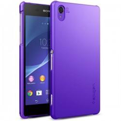 Etui Spigen Sony Xperia Z2 Ultra Fit zadnji pokrovček Purple+Folija