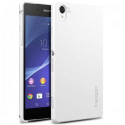 Etui Spigen Sony Xperia Z2 Ultra Fit zadnji pokrovček Smooth White+Folija