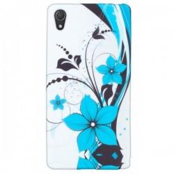 Silikon etui za Sony Xperia Z2 +folija ekrana, Blue Flowers