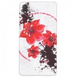 Silikon etui zaščita Ovitek za Sony Xperia Z2 +folija ekrana , Red Rose