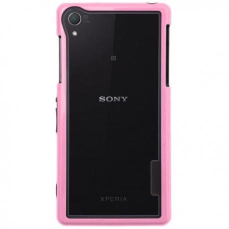 Bumper za Sony Xperia Z2 + Folija ekrana Pink barva