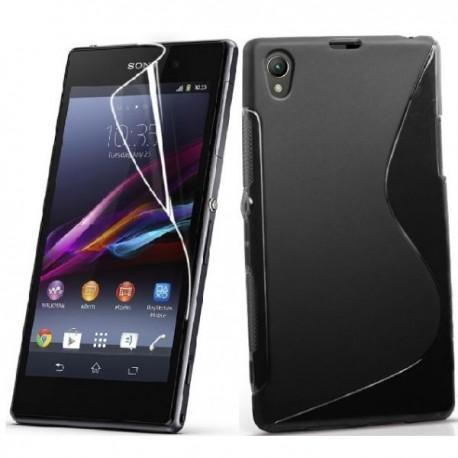 Silikon etui za Sony Xperia Z1 +Folija ekrana,Črna barva