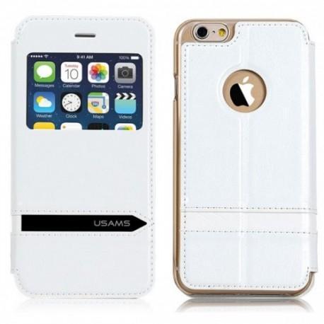 Etui za Apple iPhone 6 (4.7) Preklopna S-View Bela barva