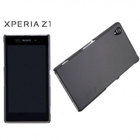 Etui za Sony Xperia Z1 zadnji pokrovček + folija ,Črna barva