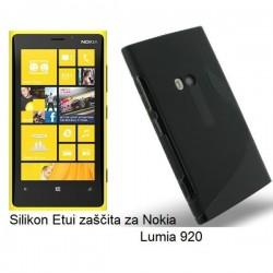 Silikon Etui za Nokia Lumia 920,črna barva,S motiv