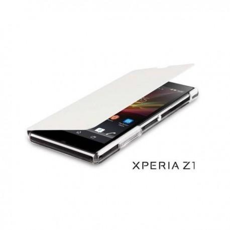 Torbica za Sony Xperia Z1 Preklopna , Bela barva