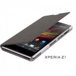 Torbica za Sony Xperia Z1 Preklopna , Črna barva