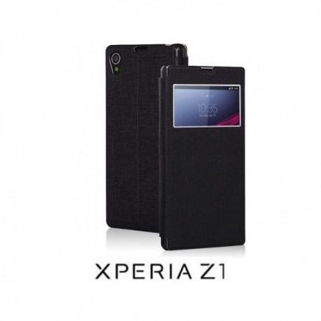 Torbica za Sony Xperia Z1 S-View Preklopna , Temno modra barva