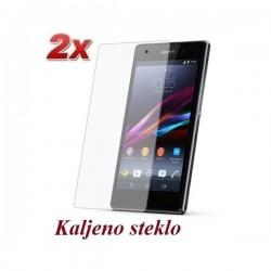 Zaščitno kaljeno steklo za Sony Xperia Z1 Trdota 9H, 0,3 mm Duo Pack