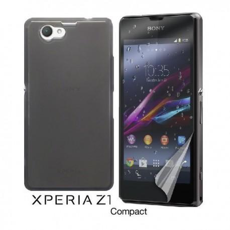 Silikon etui za Sony Xperia Z1 Compact +Folija ekrana Temna barva