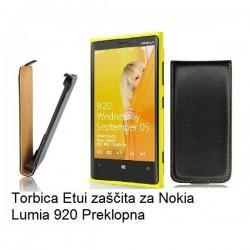 Preklopna Torbica za Nokia Lumia 920,črna barva