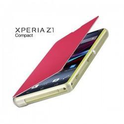 Torbica za Sony Xperia Z1 Compact Preklopna ,Book Case - Pink SMA5140P