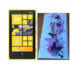 Etui za Nokia Lumia 920,bela barva,motiv metulji