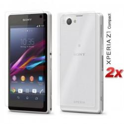 Zaščitna Folija ekrana za Sony Xperia Z1 Compact Sprednja+Zadnja folija Duo Pack