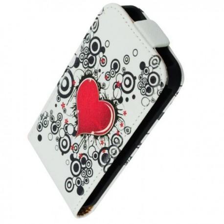 Torbica za Sony Xperia Z1 Compact Preklopna + Zaščitna folija ekrana ,Lady -Heart