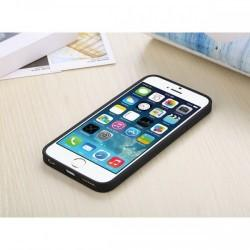 Etui za Apple iPhone 6 (4.7) Clear cover Črna barva+Folija ekrana