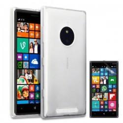 Silikon etui za Nokia Lumia 830,transparent svetla barva+Folija ekrana