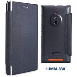 Preklopna Torbica za Nokia Lumia 830,Temno siva barva,Nillkin