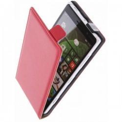 Preklopna Torbica za Nokia Lumia 830,Rdeča barva+ Zaščitna folija Rdeča barva