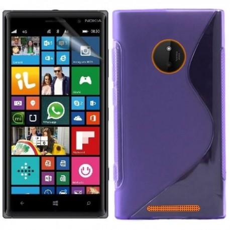 Silikon etui za Nokia Lumia 830,Vijola barva+Folija ekrana