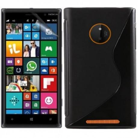Silikon etui za Nokia Lumia 830,Črna barva+Folija ekrana