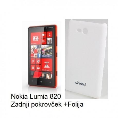 Etui za Nokia Lumia 820,Zadnji pokrovček,Bela barva+Zaščitna Folija ekrana