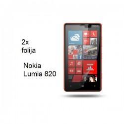 Zaščitna Folija ekrana za Nokia Lumia 820, paket 2 v 1