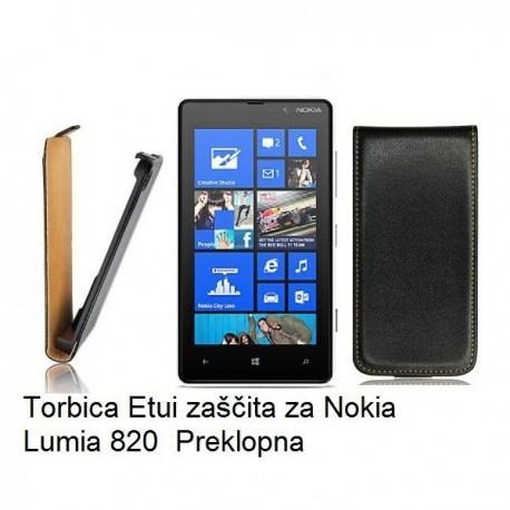 Preklopna Torbica za Nokia Lumia 820,črna barva