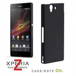 Etui za Sony Xperia Z Case-Mate Barely There Case Zadnji pokrovček, Črna barva