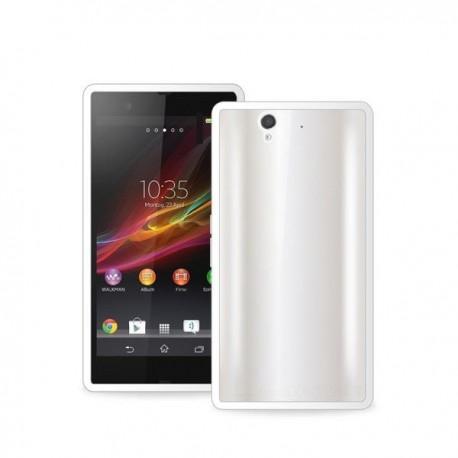 Etui zaščita za Sony Xperia Z Clear Cover, bela barva