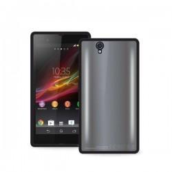 Etui zaščita za Sony Xperia Z Clear Cover, črna barva