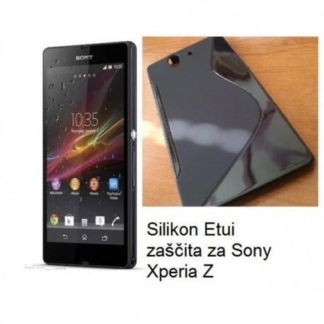 Silikon Etui zaščita za Sony Xperia Z, črna barva