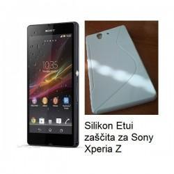 Silikon Etui za Sony Xperia Z, bela barva
