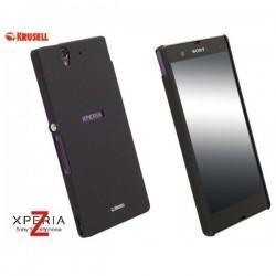 Etui za Sony Xperia Z Zadnji pokrovček Krusell ColorCover, črna barva