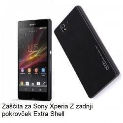Etui za Sony Xperia Z zadnji pokrovček Extra Shell Back Cover, črna barva