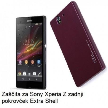 Etui za Sony Xperia Z zadnji pokrovček Extra Shell Back Cover, Wine Red