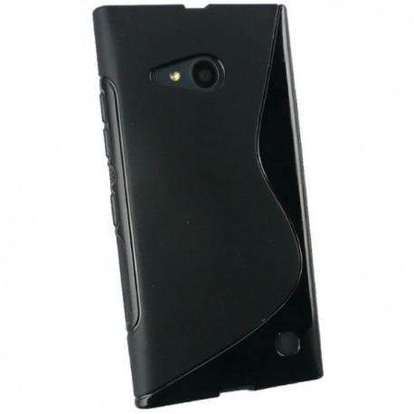 Silikon etui za Nokia Lumia 735,Črna barva,motiv S