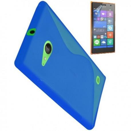 Silikon etui za Nokia Lumia 735,modra barva+Folija ekrana