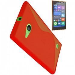 Silikon etui za Nokia Lumia 735,rdeča barva+Folija ekrana