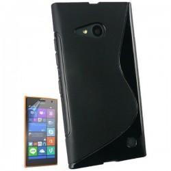 Silikon etui za Nokia Lumia 735,črna barva+Folija ekrana