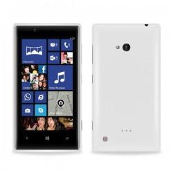 Silikon etui za Nokia Lumia 720,prozorna mat bela barva