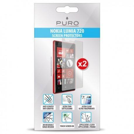 Zaščitna Folija ekrana za Nokia Lumia 720,paket 2 v 1