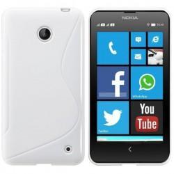 Silikon etui za Nokia Lumia 630/635,bela barva,motiv S+Folija ekrana