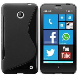Silikon etui za Nokia Lumia 630/635,črna barva,motiv S +Folija ekrana