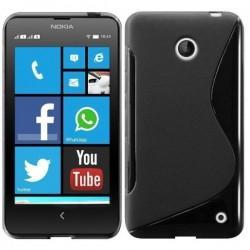 Silikon etui za Nokia Lumia 630/635,črna barva,motiv S